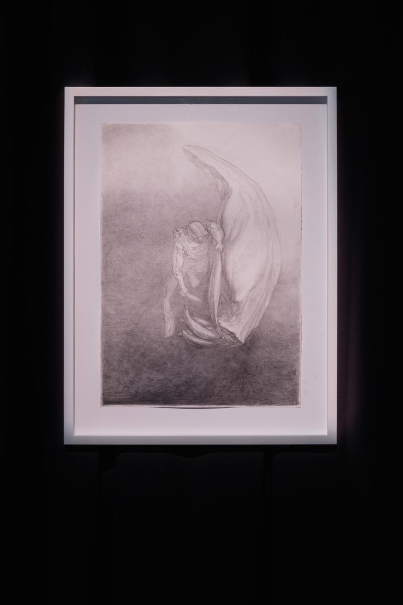 Kūnas ir tamsa_11_Galerija Vartai_M. Lukošaitis, Gyvūlys, 2007. Pieštukas, popierius