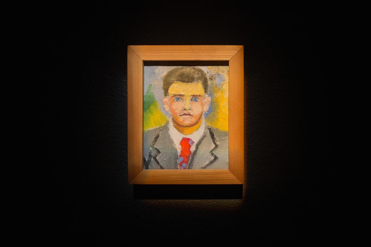 Kūnas ir tamsa_18_Galerija Vartai_A. J. Stankevičius, Portretas, apie 1965. Aliejus, drobė