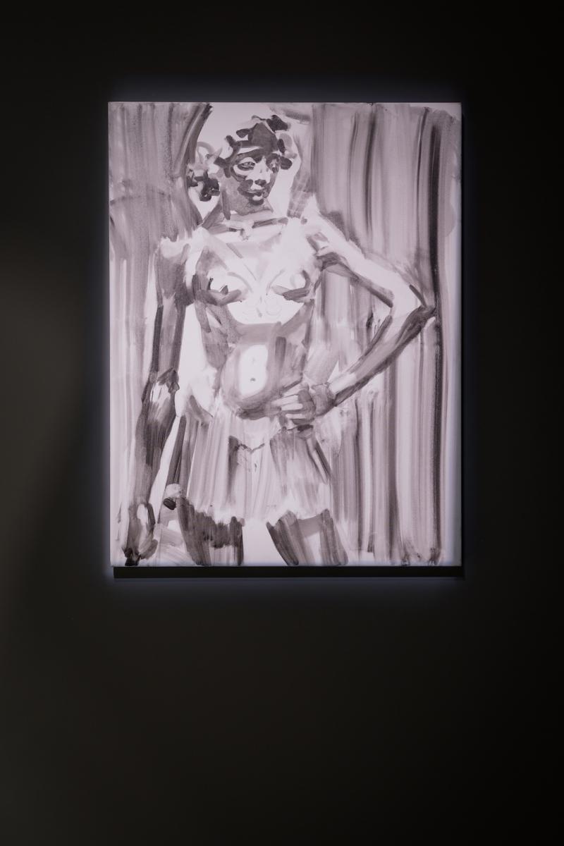 Kūnas ir tamsa_21_Galerija Vartai_R. Merkliopaitė, David, 2015. Aliejus, drobė