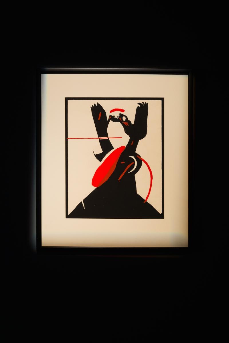 Kūnas ir tamsa_4_Galerija Vartai_ M. P. Vilutis, Agresija III, 1979. Šilkografija