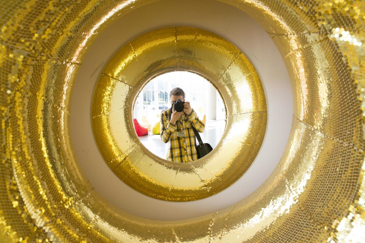 """Raimondos Sereikaitės instaliacija """"#selfie"""""""