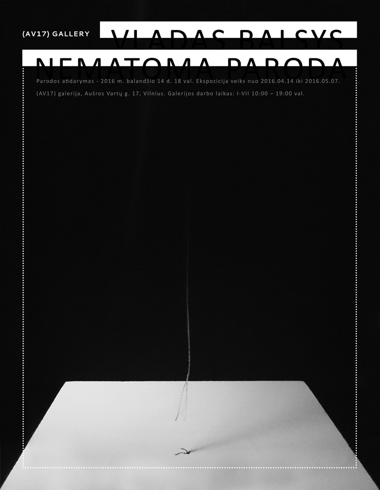 Vladas_Balsys_Nematoma_paroda_plakatas