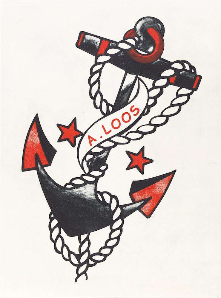 Kristina Restović, Tattoo. Sailor JerryAdolf Loos, 2013, akvatinta, sausa adata, 55×40