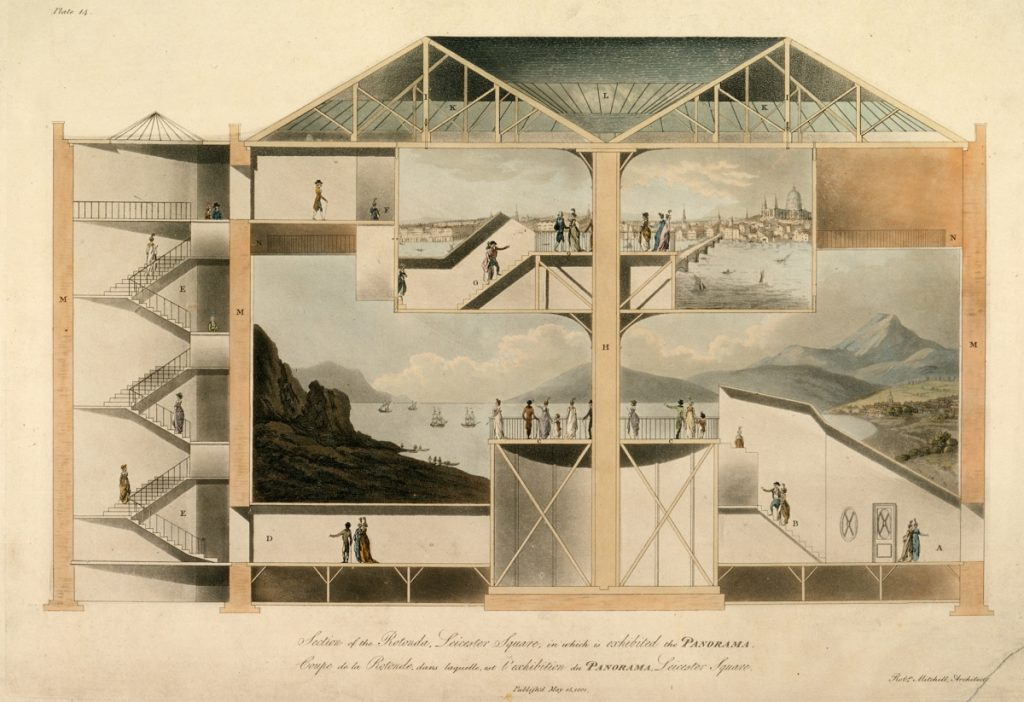 5. Robert Mitchell. Section of the Rotunda, Leicester Square, in which is exhibited the Panorama. 1801