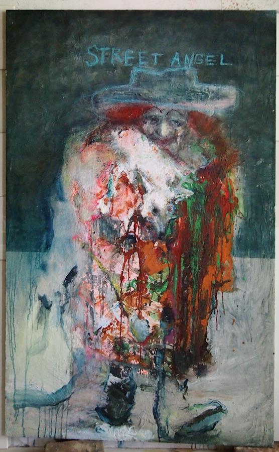 Street Angel, 2016, 190x120, drob. akrilas, aliejus